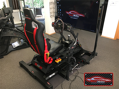 Next Level Racing Traction Plus mit Motion Platform V3 im GTTrack Cockpit