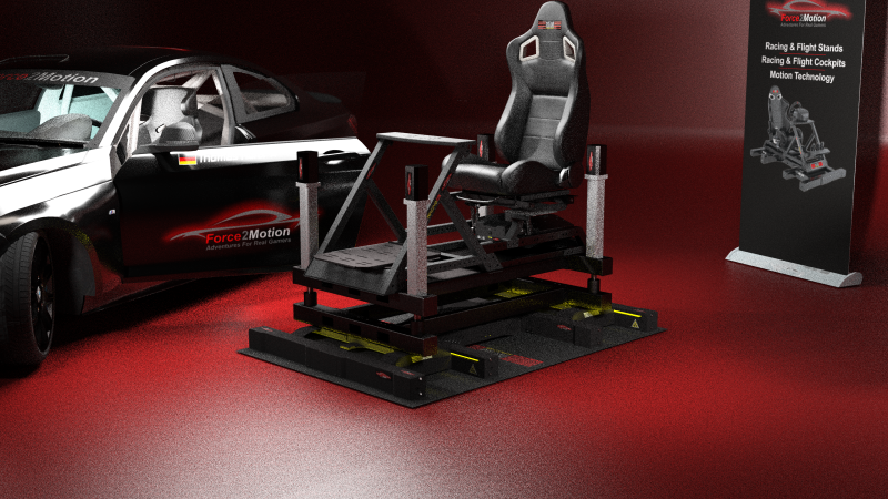 "Force2Motion 8DOF - Motion-Simulator - ""Das Biest"""