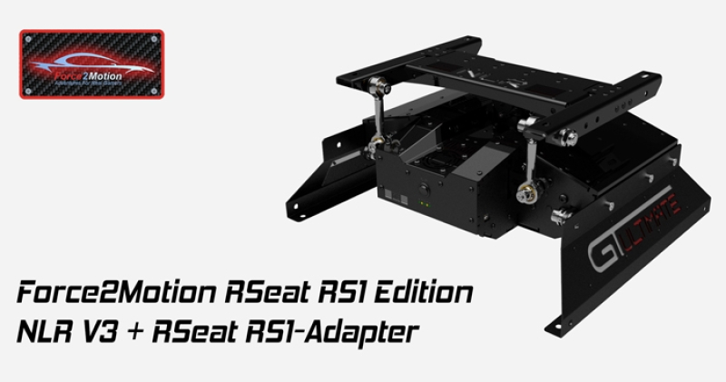 Next Level Racing Motion Platform V3 - RSeat RS1 Edition - Bundle